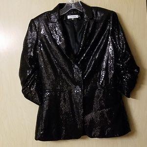 Calvin Klein Sequined Blazer - Size XS